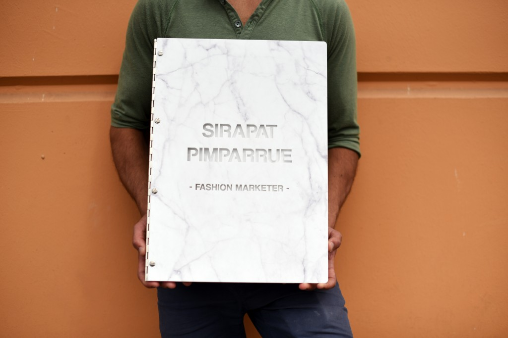 Marble-custom-portfolio-book-for-graphic-designers-by-klo-portfolios