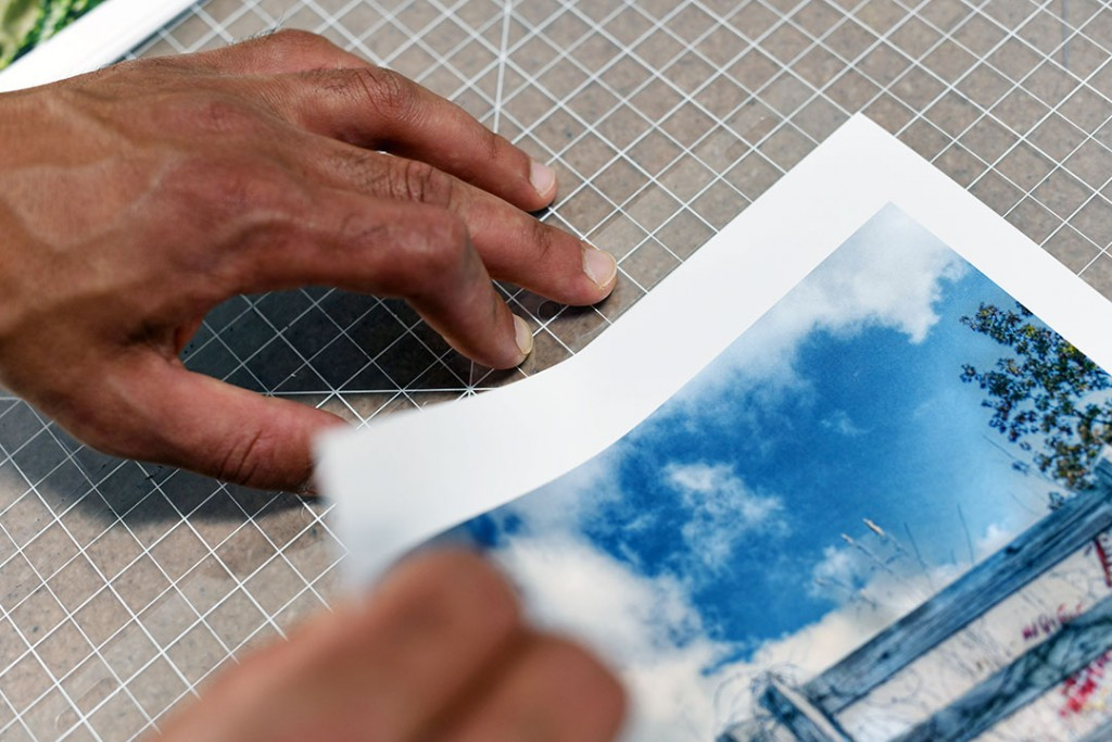 adding hinge strips to your pages for your portfolio book