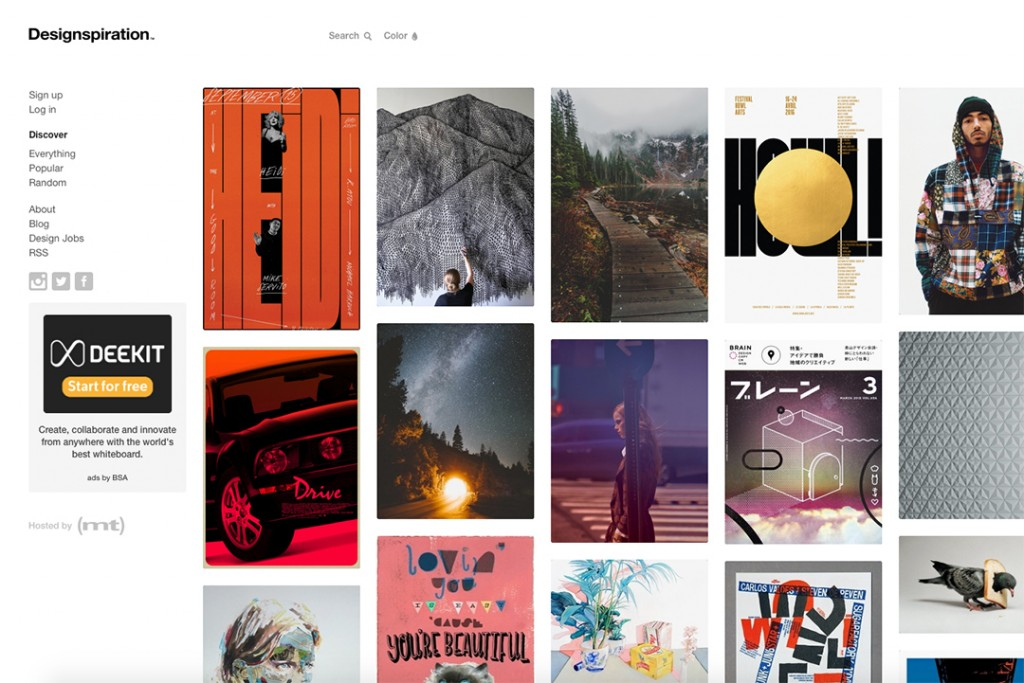 design inspiration site suggestions by klo portfolios