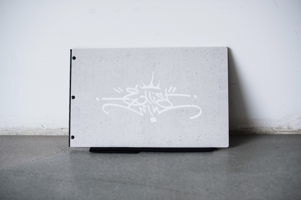 Custom-Engraved-Concrete-Acrylic-Portfolio-Book