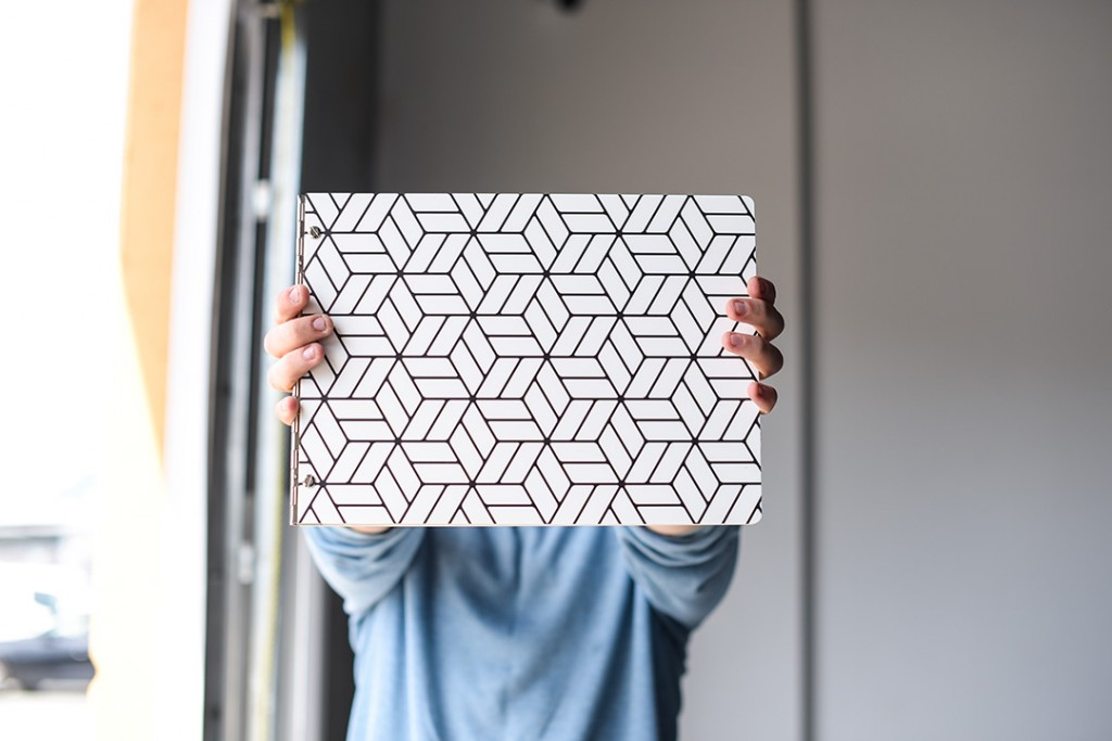 Cube Pattern Custom Presentation Book