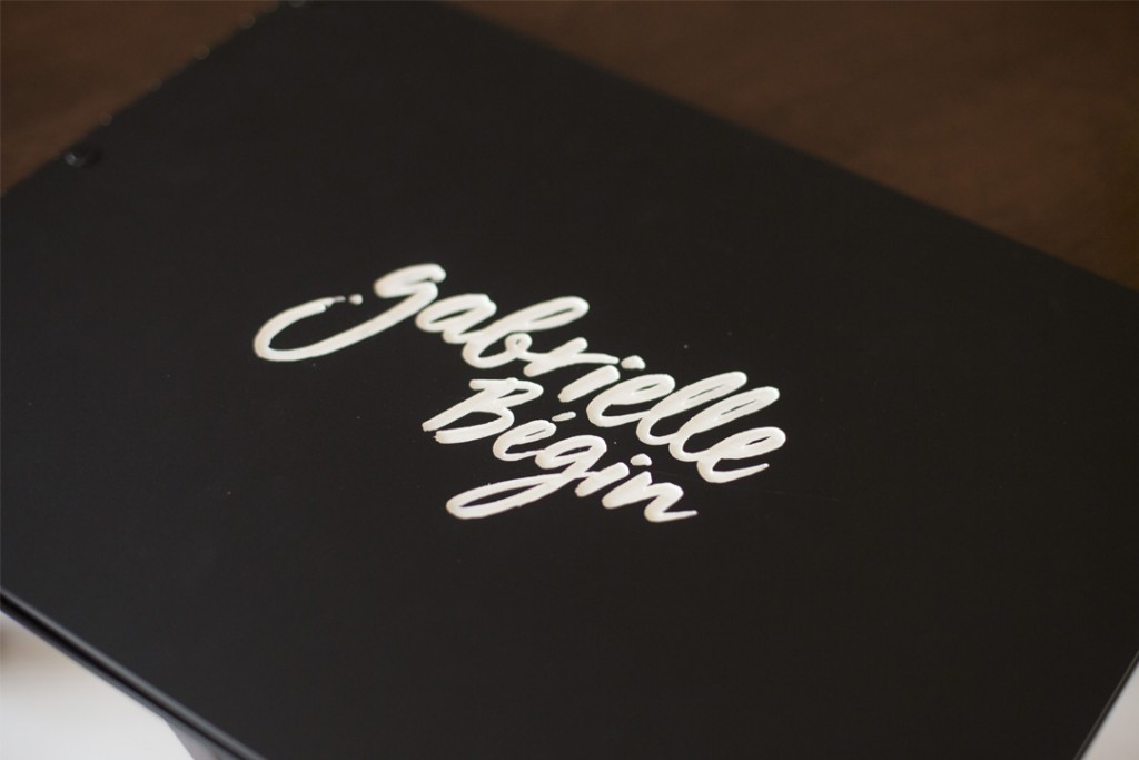 Custom Matte Black Screwpost Portfolio Book