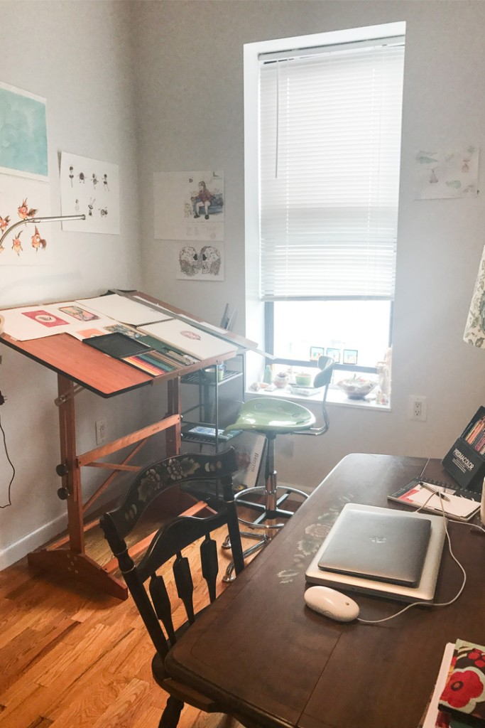 Freelance Illustrator and Story Teller Work Space