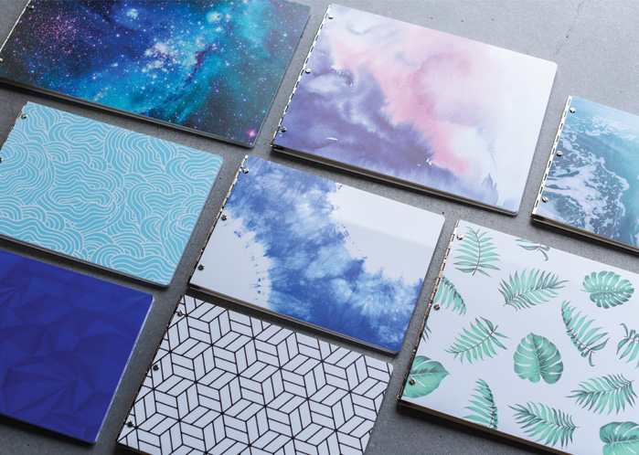 New! Customizable Patterned Acrylic Portfolio Book Collection