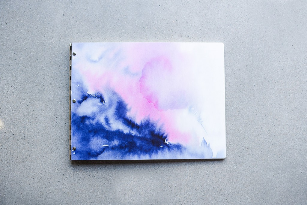 Water Colour Pattern Screw Post Portfolio Book