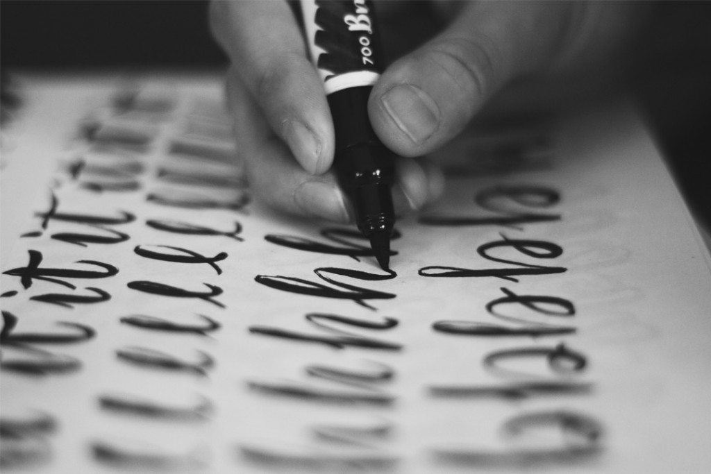hand done lettering typography