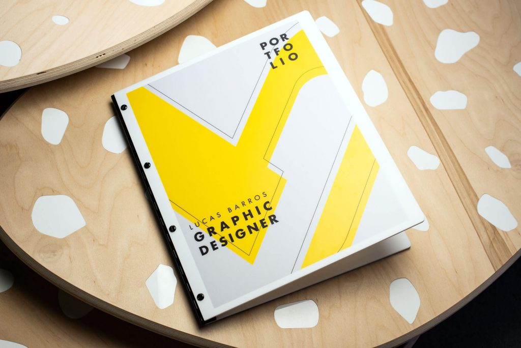 Graphic design portfolio book by Klo Portfolios