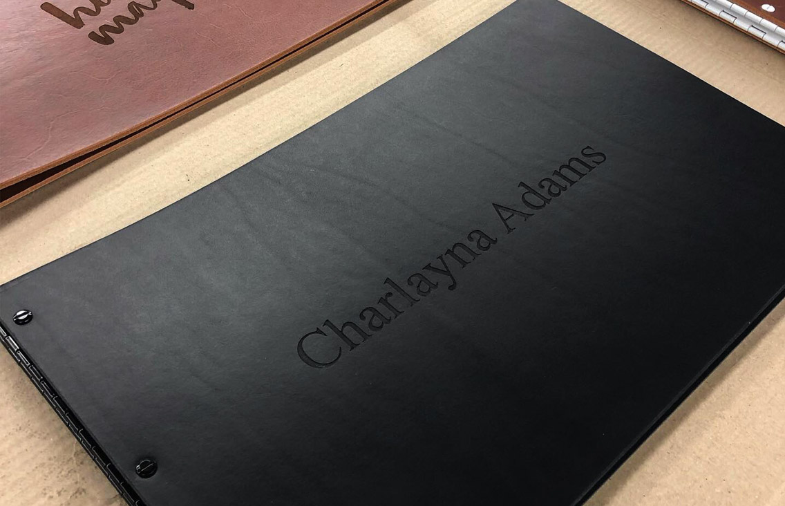 Leather Custom Portfolio Books in the Making