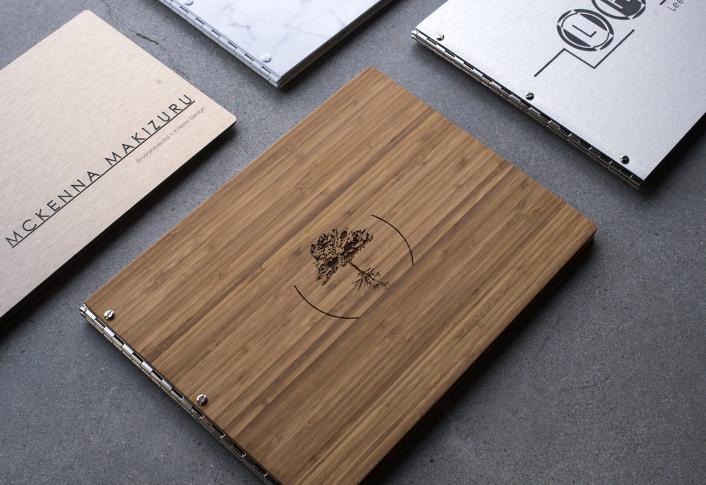 11 x 14 personalized bamboo portfolio book