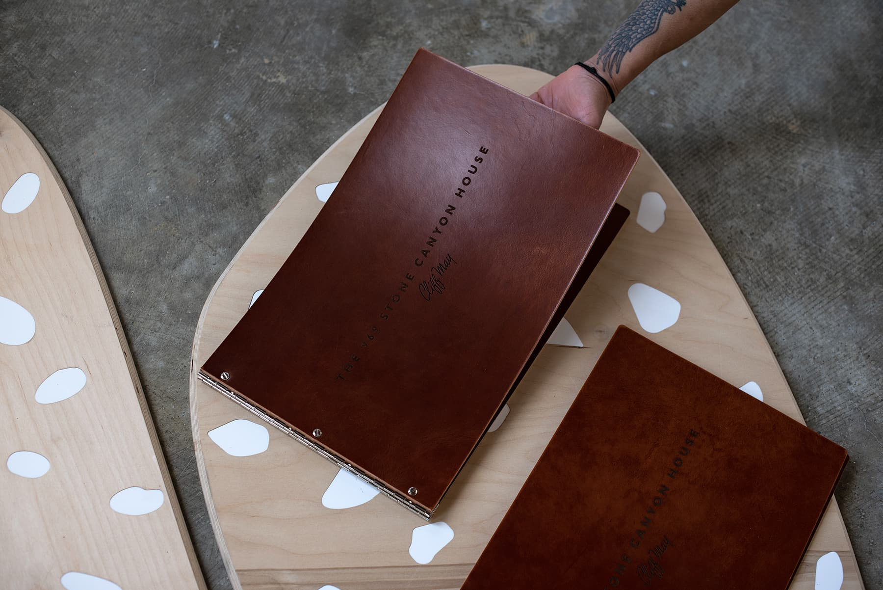 Custom Leather Portfolio book
