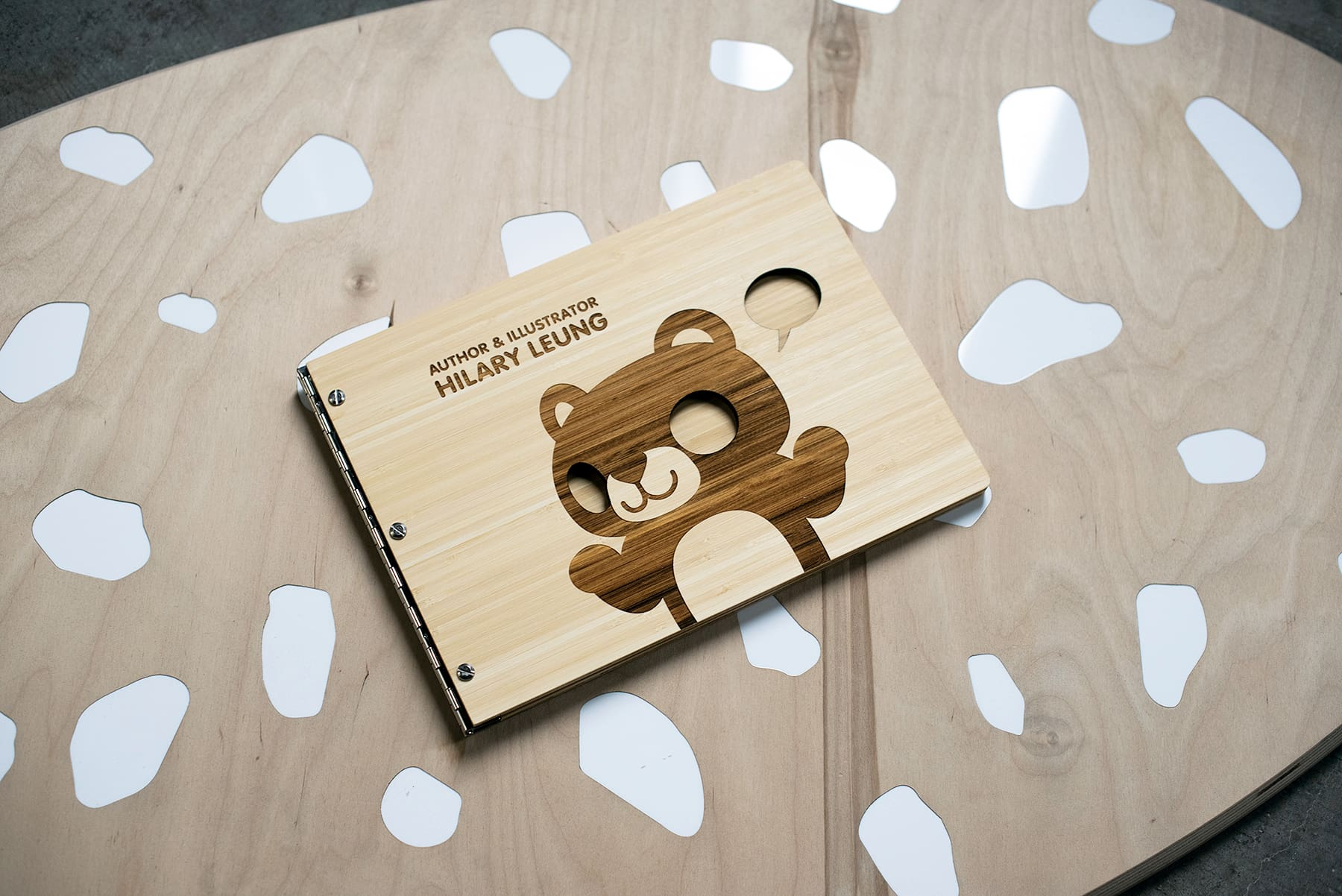 Engraved wooden illustrator book
